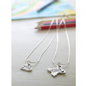 Personalised Silver Butterfly Necklace
